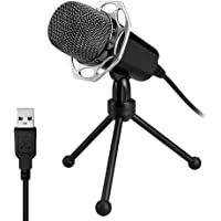 USB Microphone, Microphones for Computer Desktop Laptop Notebook Plug & Play for Recording, Gaming