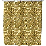 Uneekee A Town In Africa Shower Curtain: Large Waterproof Luxurious Bathroom Design Woven Fabric