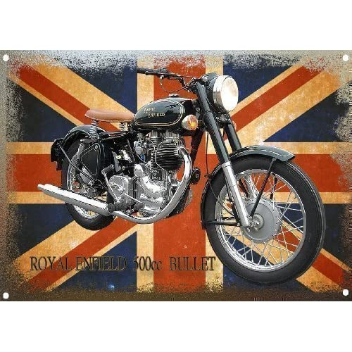 plaque m tal moto royal enfield bullet hot sale 2017. Black Bedroom Furniture Sets. Home Design Ideas