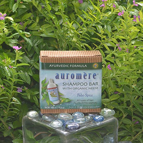 Ayurvedic Shampoo Bar by Auromere - Can be Used for Both Face & Body - All Natural Unique Formula for Natural Cleansing, Nourishing and Rejuvenating Properties for the Hair and Scalp - 4.23 oz (Best Smelling Shampoo India)