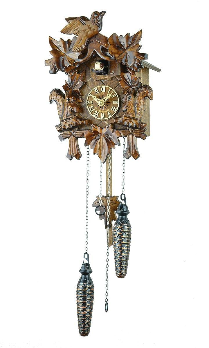【新ムーブメント音量調整付】クォーツ式鳩時計カッコー時計 ドイツ森の時計 シュヴァルツヴァルト622QM   B001B1DVWG