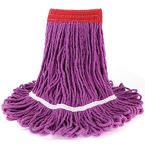 Looped-End String Heavy Duty Wet Mop Head / Universal Industrial Headband Mop head / Top Quality High Absorbent and Durable with Great Cleaning Power, Anti-Abrasive Microfibers No Scratch - Scratches Get Rid Of