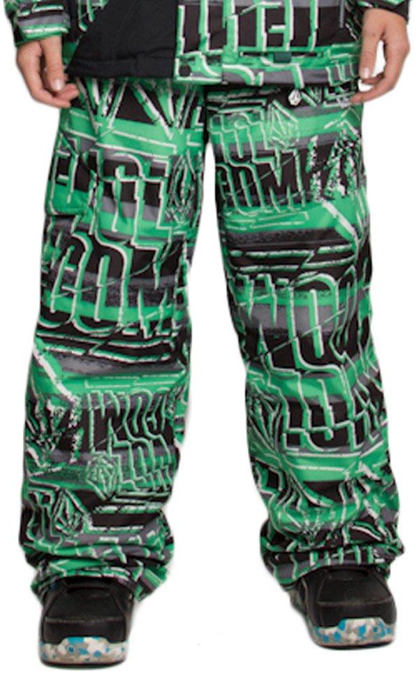 Volcom Launch Insulated Pant - Boys' Echo Stripe, L