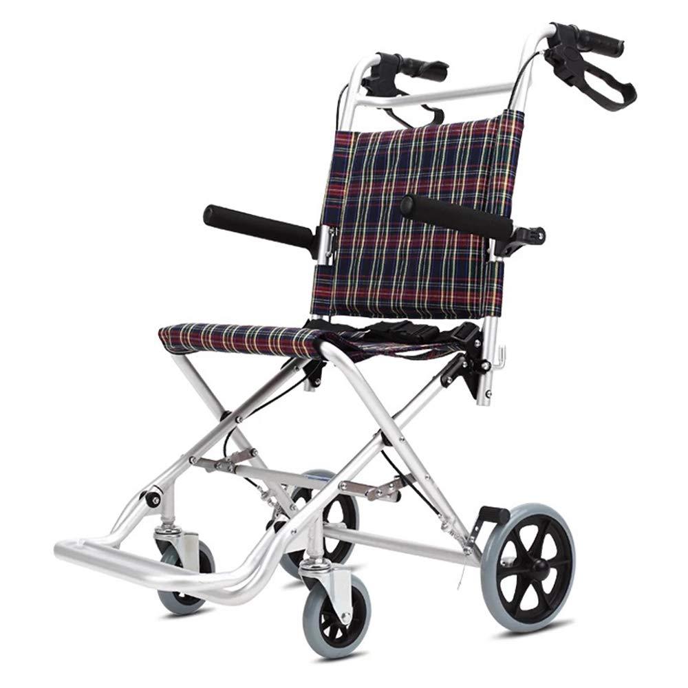 折りたたみ車椅子アルミ合金超軽量ポータブルトロリー横になって折りたたみ高齢者自転車無効   B07PKB5H2W