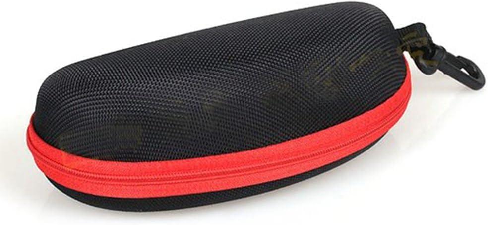 sacchetto portaocchiali Zedtom con panno di pulizia Rosso custodia per occhiali da sole e da vista nero e blu