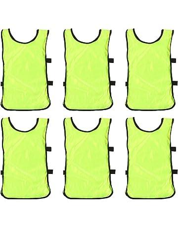 LIOOBO 12 Pezzi Gilet Sportivi per Bambini Bambini Bambini Gilet Flessibile Fresco Traspirante ad Asciugatura Rapida Camicie Senza Maniche per Lo Sport Gioco Allaperto Formazione S