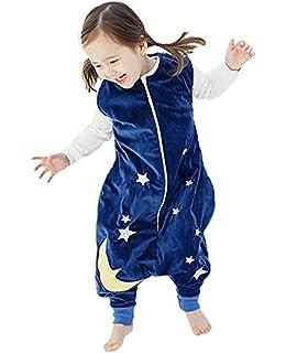 Ruiying Bebé Dormir Algodón Wearable Cobija Lightweight Bebé Chicas Sin Mangas Dormido Bolso con Pies Franela