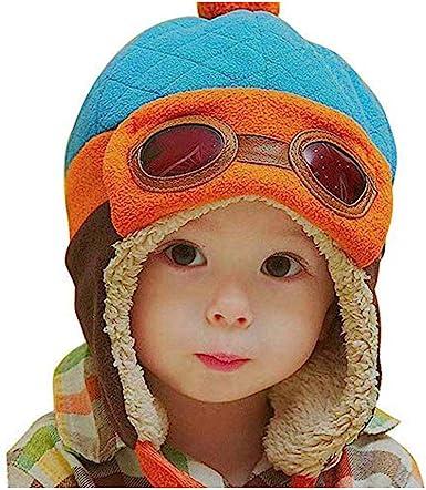 Toddlers Cool Children Baby Boys Girls Infant Winter Pilot Warm Cap Hat Beanies