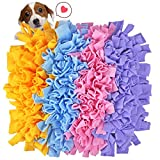 MyfatBOSS Snuffle Mat, Feeding Mat for Dogs, Encourages Natural Foraging Skills Interactive Dog Toys, Fun to Use Design, Perfect for Any Breed(17.7″X11.8″) (Multi-Color)