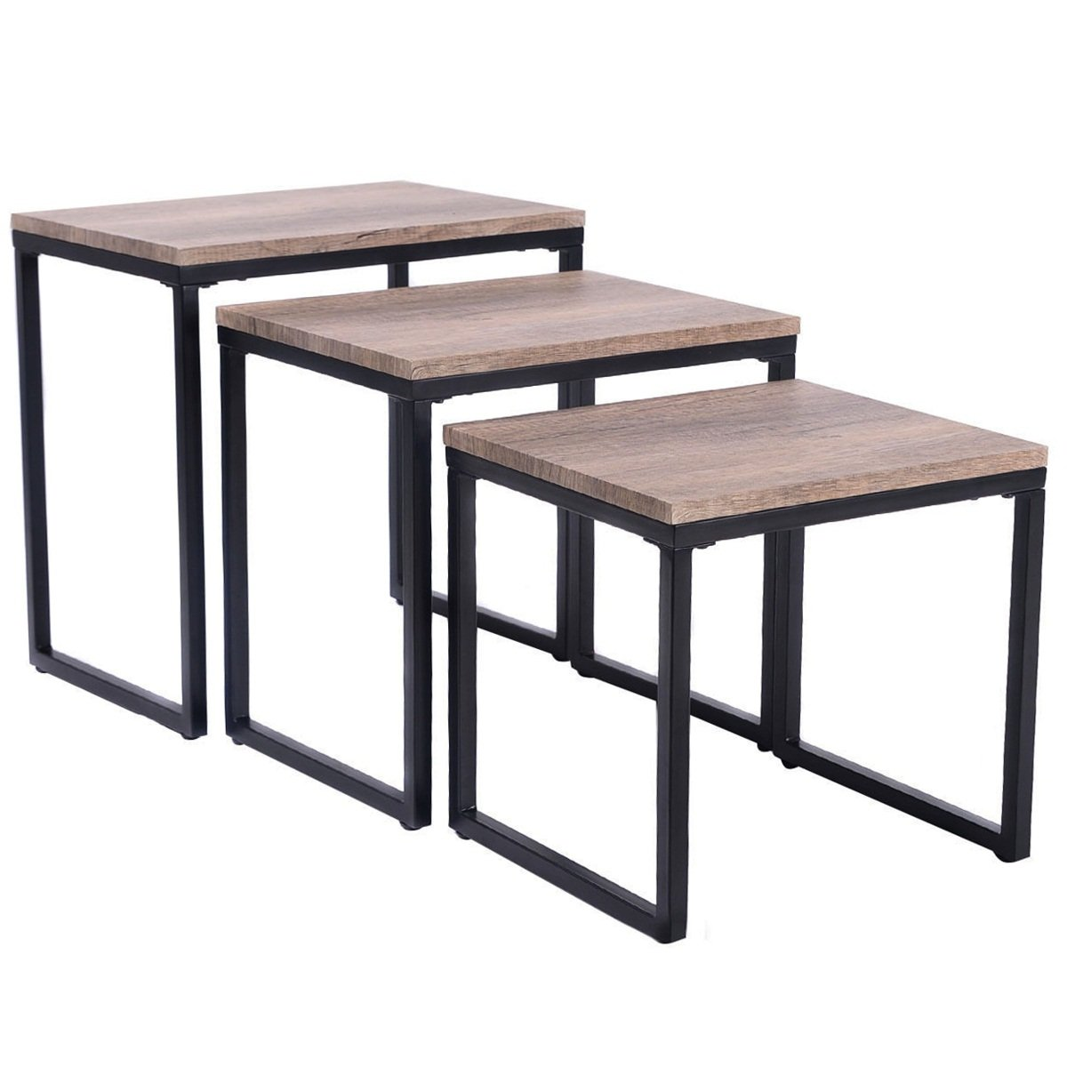 3 Size Stacking MDF Boards Coffee End Table Set