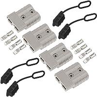 GTIWUNG Conector de Batería 50A (4 Unids) Coche Batería de Conexión Rápida Powerpole Conectores de Alimentación…