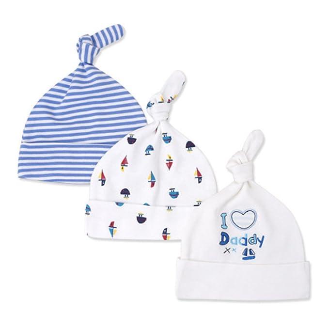 CuteOn 3 pacchetti Bambino Beanie Nodo Cappello Neonato Ragazzi Ragazze  Cotone Regolabile Berretto per Bambino 0-6 Mesi 02-IloveDaddy  Amazon.it   ... 4bfd779ad1f4