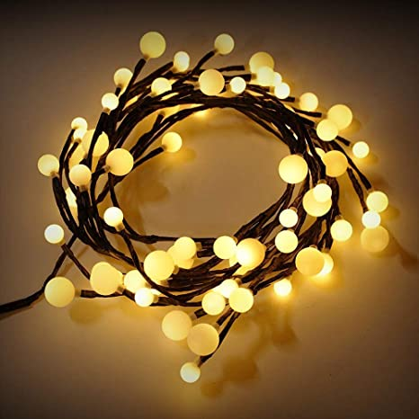 Micnaron LED String Lights 72 LED Rattan Style Lamp, 8 Modes 8.2ft DIY Decorative