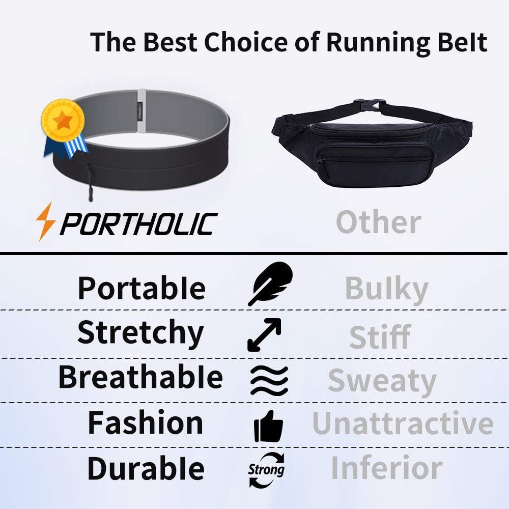 Passeggiate Yoga LG;per Palestra con Gancio Portachiavi Sport. Ciclismo PORTHOLIC Cintura da Corsa e di Fitness Cintura da Jogging con Cerniera Samsung per iPhone Huawei Esercizi Jogging