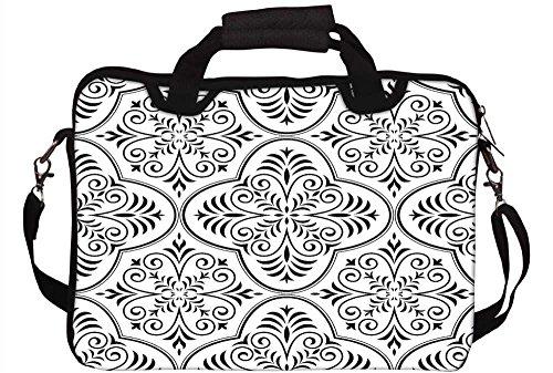 Snoogg grau Farbe Muster 30,5cm 30,7cm 31,8cm Zoll Laptop Notebook Computer Schultertasche Messenger-Tasche Griff Tasche mit weichem Tragegriff abnehmbarer Schultergurt für Laptop Tablet PC Ultrabo