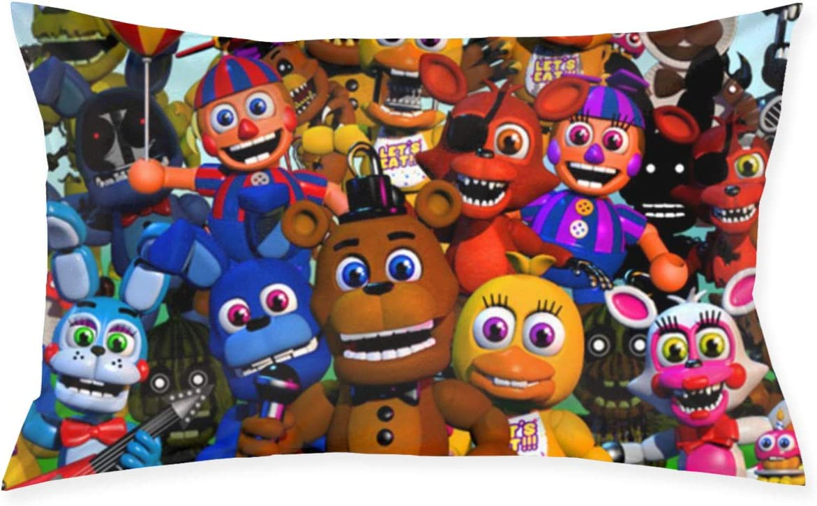 Trikahan Five Nights at Freddy's Bears Character Throw Pillow Covers Cushion Case for Room Bedroom Sofa
