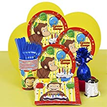 Curious George Party Supplies Kit for 8