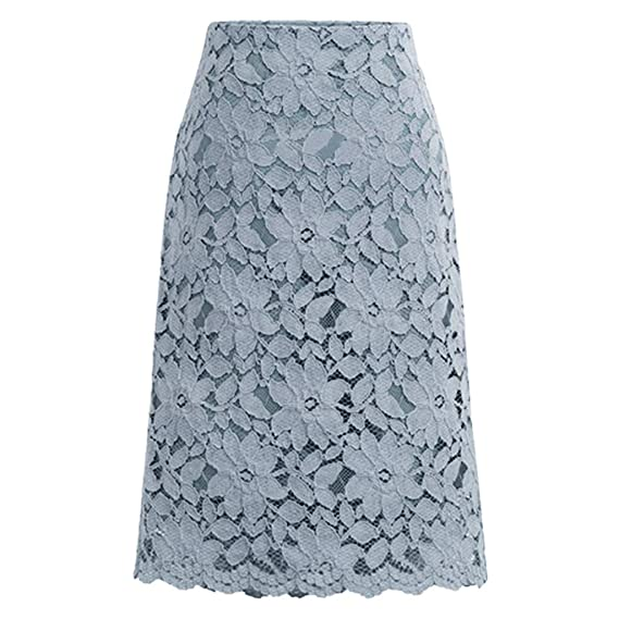 AOGOTO-Jupe Robe Falda de Encaje para Mujer, Falda de Fitness, una ...