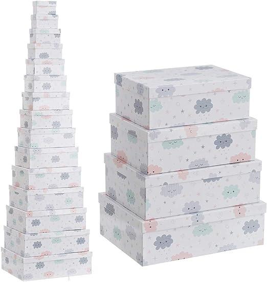 Cajas de Estrella Azules de cartón Infantiles para decoración Child - LOLAhome: Amazon.es: Hogar