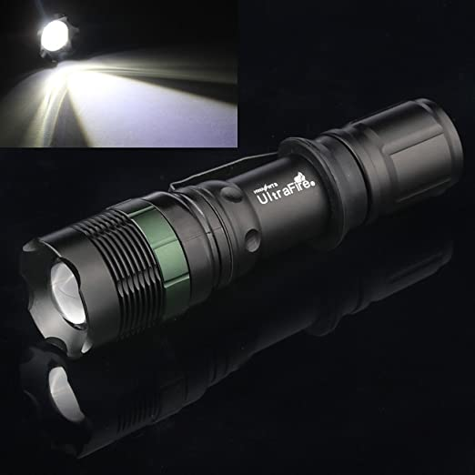 2PC 950000LM Portable T6 LED Flashlight  Zoomable Grande Aluminium Camping Torch