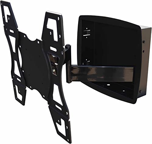 Recessed Flush in-Wall Box Articulating Arm Mount for LED TV Samsung, LG 32 , 43, 49 , 55 , 65