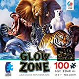 Ceaco Glow Zone Glow-in-The Dark Mammals Jigsaw Puzzle