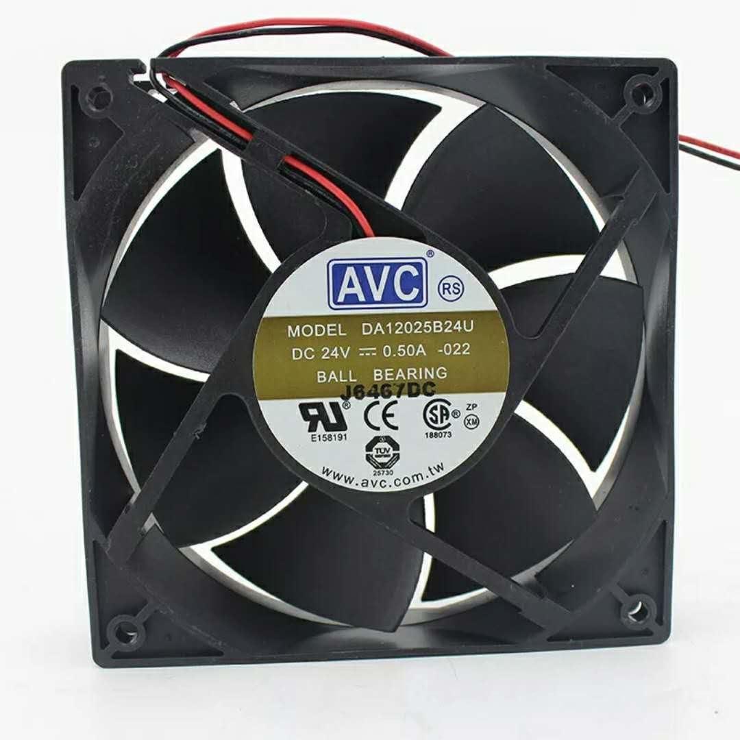 For AVC DA12025B24U-022 12 cm 12025 24V 0.5A chassis air volume ball fan