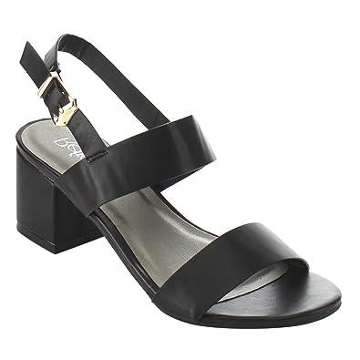 3114ee77ac8 Refresh ID91 Women s Double Strap Sling Back Block Heel Dress Sandal