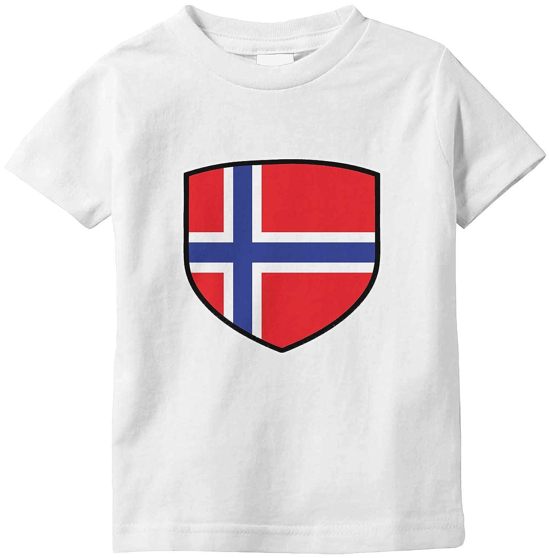 Amdesco Norway Shield Norwegian Flag Infant T-Shirt