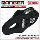 Ranger (10 tons 22,000 lbs) Commercial Reliability Snatch Block with Grease Fitting by Ultranger