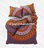 Exclusive beautiful Bohemian traditional Indian mandala Duvet Queen Quilt WITH PILLOWCASES By ''NANDNANDINI '' Mandala quilt cover, Boho duvet cover, doona cover