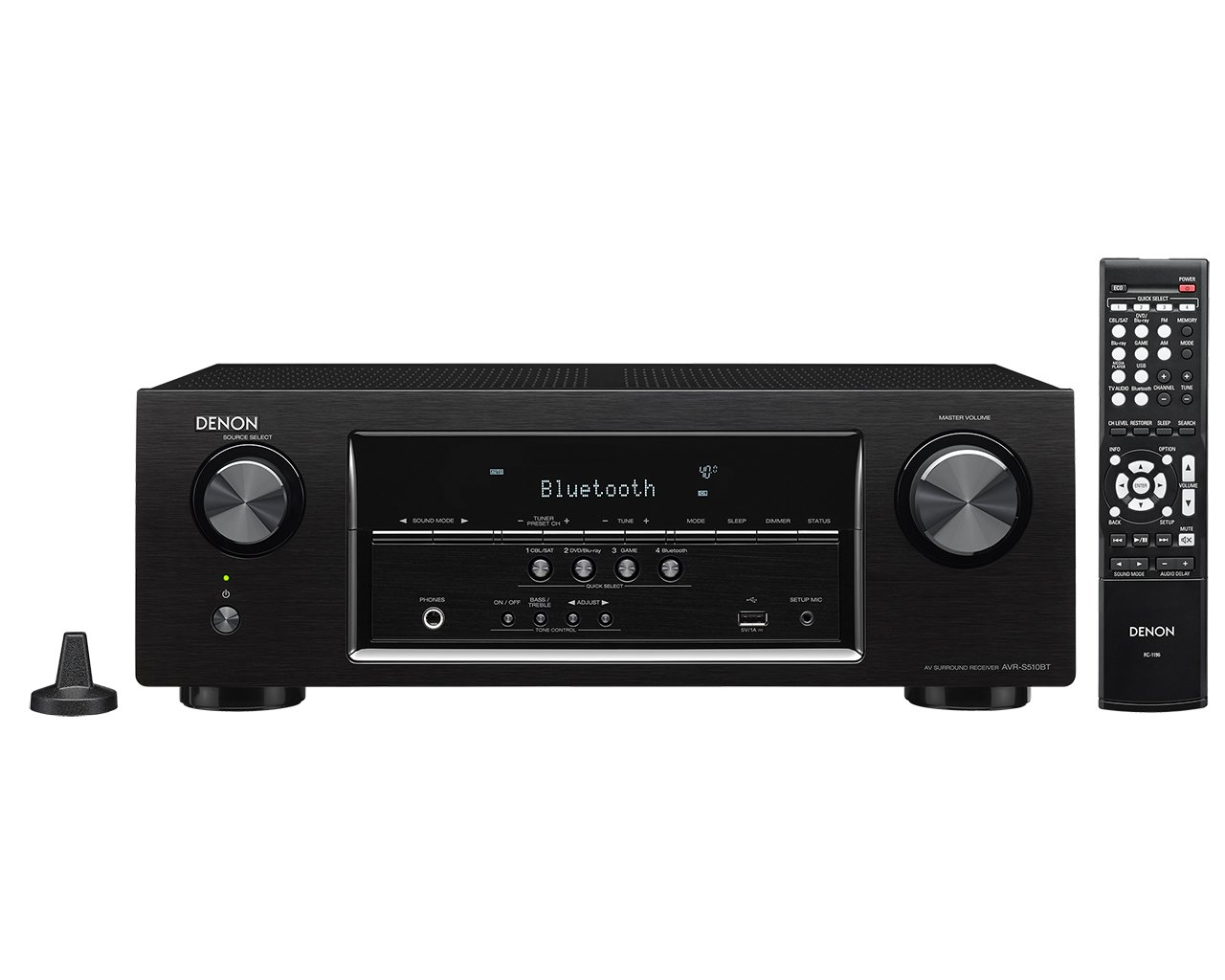 Denon AVR-S510BT 5.2 Channel Full 4K Ultra HD AV Receiver with Bluetooth by Denon