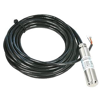 FLAMEER Sensor de Nivel de Transductor Cable de Detectores de Agua Monitoreo de Bajo Nivel en Tanques Abiertos - 11m: Amazon.es: Bricolaje y herramientas