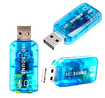 Amazon.com: vidrio azul USB 2.0, audio externo adaptador de ...