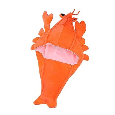 MagiDeal Aragosta Costume Gamberi Bambini Adulti Berretto Maschera Cappello  di Regalo di Compleanno Festa di Fantasia 08ae6f78148e