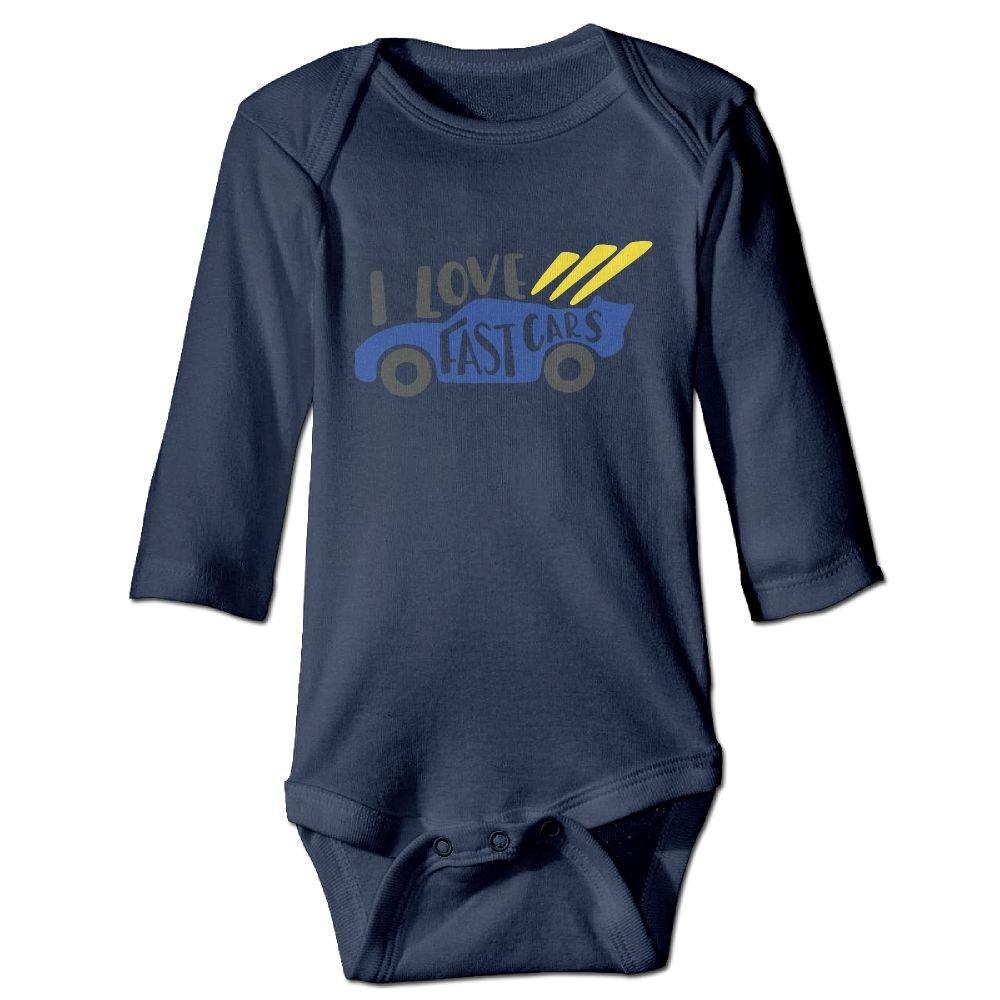 Midbeauty Love Fast Cars Newborn Cotton Jumpsuit Romper Bodysuit Onesies Infant Boy Girl Clothes