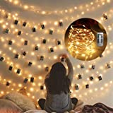 Cocoselected Warm White Twinkling Fairy Lights USB,33ft 100 Micro LEDs String Twinkle Lights with Remote Control Teen…