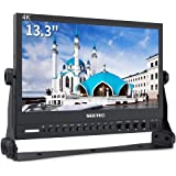 SEETEC P133-9HSD 13.3 Inch Aluminum Design 4K IPS Screen Full HD 1920×1080 Pro Broadcast Monitor with 3G-SDI HDMI AV YPbPr Professional LCD Monitor