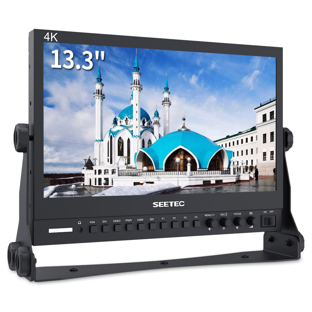 SEETEC P133-9HSD 13.3 Inch Aluminum Design IPS Screen Full HD 1920×1080 Pro Broadcast Monitor with 3G-SDI HDMI AV YPbPr Professional LCD Monitor by SEETEC