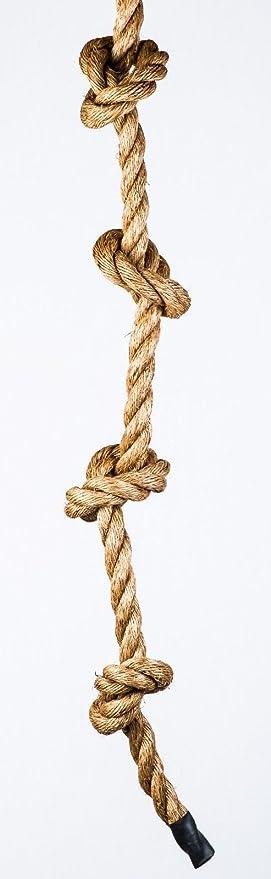 Cuerda con nudos de ajuste Manila cuerda de escalada: Amazon ...