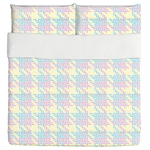 Pepita In Miami Beach Duvet Bed Set 3 Piece Set Duvet Cover - 2 Pillow Shams - Luxury Microfiber, Soft, Breathable by uneekee