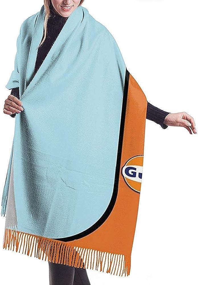Cathycathy Scialle lungo in cashmere con sciarpa invernale Gulf Racing da uomo e da donna