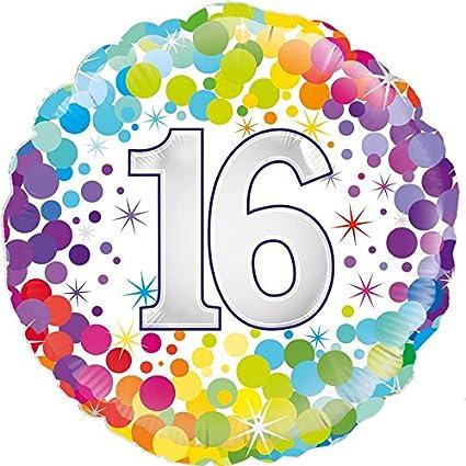 OakTree 226928 globo de cumpleaños, multicolor, 18 pulgadas ...