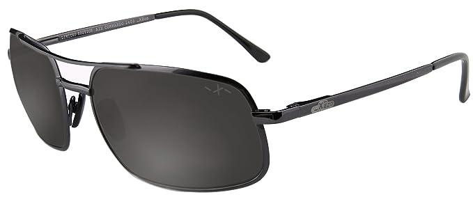 dbd77ed66d Xezo Air Commando de hombre - Gafas de sol de titanio polarizadas. Un  excelente accesorio para conducir, jugar a golf o ir en bicicleta.