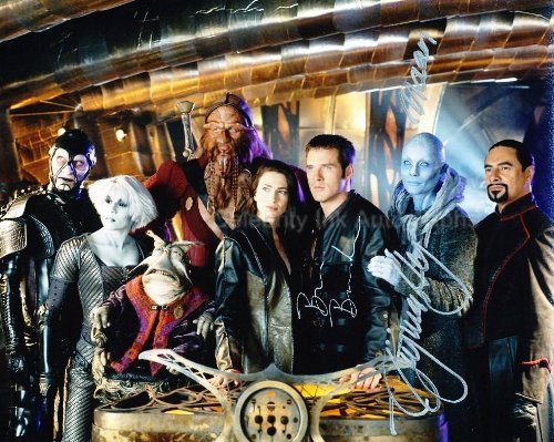 BEN BROWDER and VIRGINIA HEY as John Crichton and Pa'u Zotoh Zhaan - Farscape from Celebrity Ink