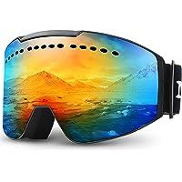 Juli Skidglasögon vinter snö sport snowboard skyddsglasögon med anti-dimma UV-skydd dubbel lins för män kvinnor och…