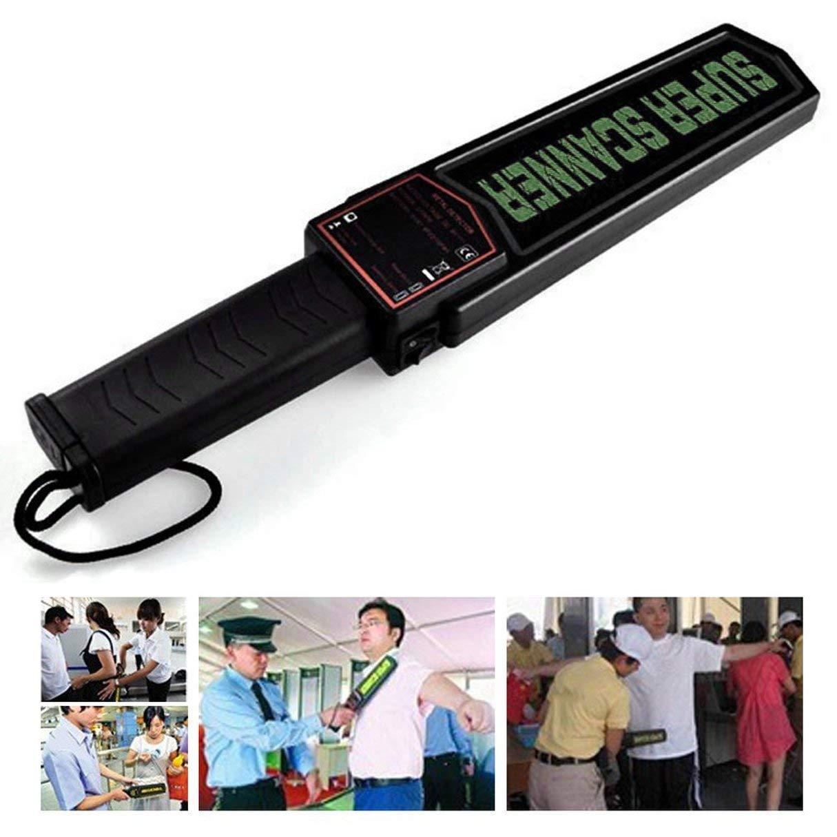 Detector de metales de mano, detector de metales portátil Seguridad Detector de metales de mano Alarma y vibración MD3003B1 Super Scanner Bomb Detector de ...