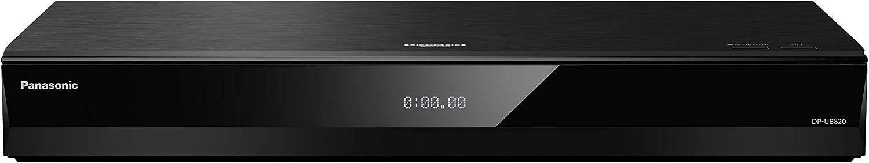 Panasonic DP-UB820EGK Reproductor BLU-Ray Ultra HD, Calidad 4K/HDR, WiFi, Audio Hi-Res, Twin HDMI, Reproducción 3D, Compatible con MP3, USB, Salida Óptica, Negro
