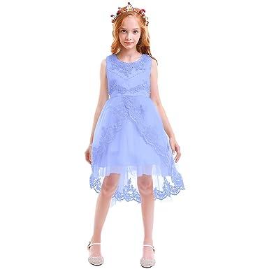 Vestiti Eleganti Da Bambina.Obeeii Vestito Elegante Da Ragazza Festa Cerimonia Matrimonio
