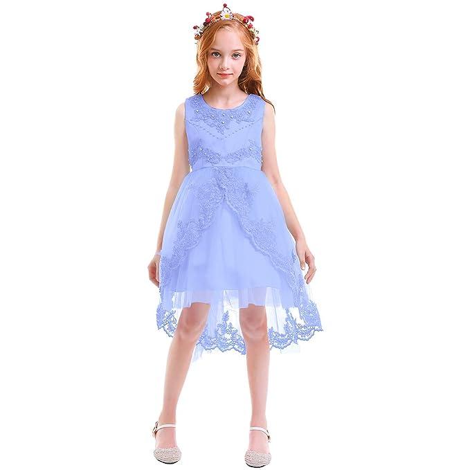 Vestito Azzurro Matrimonio : Obeeii vestito elegante da ragazza festa cerimonia matrimonio